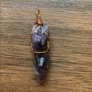 Jewelry - Wire Wrapped Amethyst Crystal Pendant